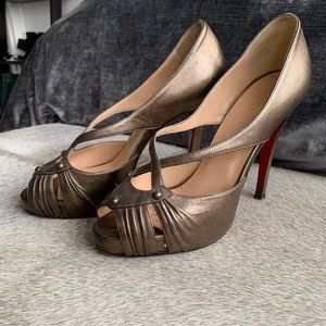 Christian Louboutin platform open toed heels!